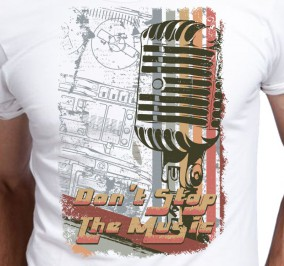 T-shirt męski Don't Stop The Music