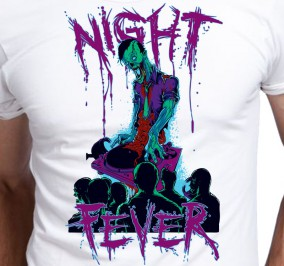 T-shirt męski Zombie Night Fever