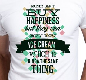 T-shirt męski Money can't bay happiness