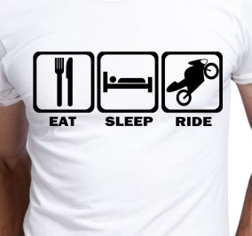 T-shirt Dziecięcy Eat Sleep Ride