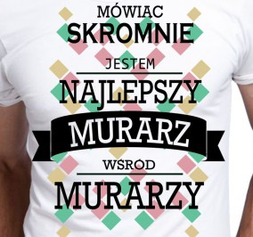 T-shirt Men Skromny Murarz