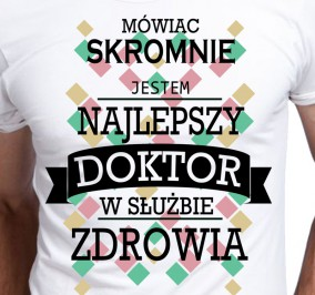 T-shirt Men Skromny Doktor
