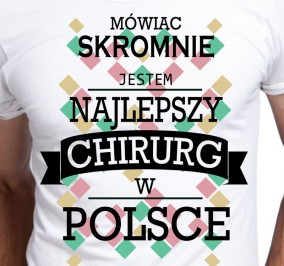 T-shirt Men Skromny Chirurg