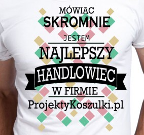 T-shirt Men Skromny Handlowiec