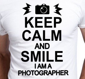 T-shirt Men Keep Calm Photographer
