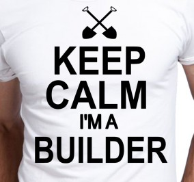 T-shirt Men Keep Calm I'm A Builder