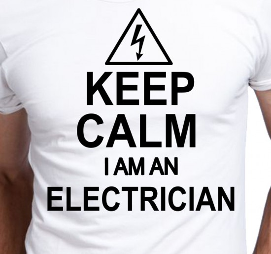 T-shirt Men Keep Calm I'm An Electrician