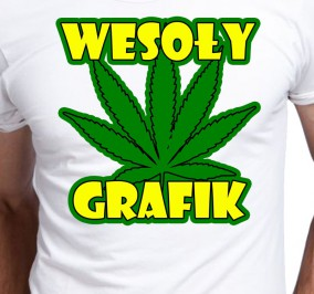 T-shirt Men Wesoły Grafik
