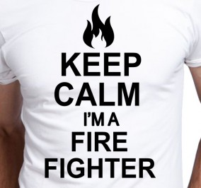 T-shirt Men Keep Calm Firefighter