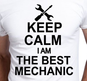 T-shirt Men Keep Calm The Best Mechanic