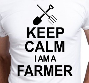 T-shirt Men Keep Calm Farmer