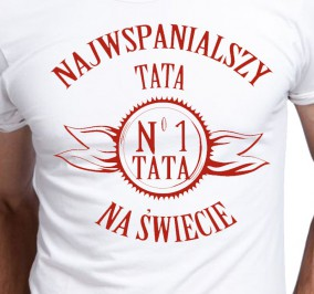 T-shirt Men Najwspanialszy Tata No.1